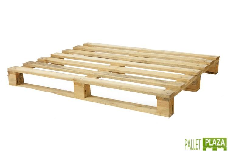 Gebrauchte 100x120 Palette mit fünf Deckplanken