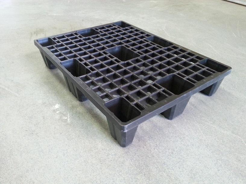 Kunststoffpalette 60x80 mit 9 Füßen
