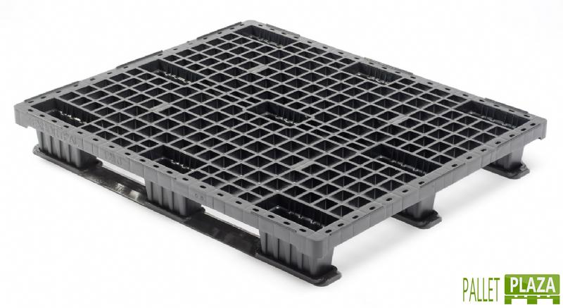 Kunststoffpalette 100x120 nestbar mit kufen (klick)